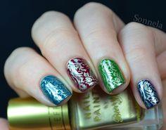 Sonnela: Autumn skittle #nail #nails #nailart