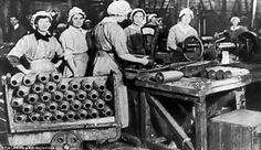 During the WWI the woman started working, substituting man who were in th war and therefore the clothes needed to change in order to be able to work
