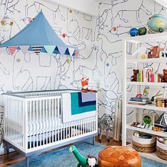 Nursery inspiration from @em_henderson via thedominomagazine.