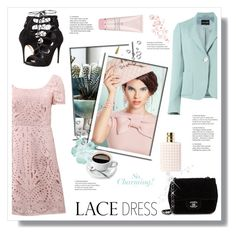 """""""LD"""" by stranjakivana ❤ liked on Polyvore featuring Notte by Marchesa, Chanel, Alexander McQueen, Valentino, By Terry, AlexanderMcQueen, armani and lacedress"""