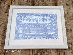 Wedding Day Papercut Framed Gift
