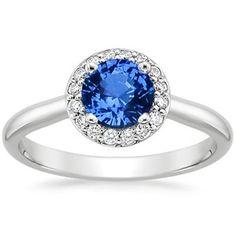 The Sapphire Halo Diamond Ring #BrilliantEarth