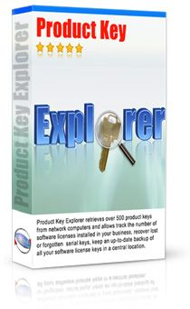 Product Key Explorer  http://www.nsauditor.com/product_key_finder.html  Product Key Explorer is the best product key finder software for recovering and finding product keys to over +4000 programs: Windows 8, Windows 7, Windows XP, Microsoft Office, Adobe CS6, CS5, CS4, CS3, Acronis, Electronic Arts games, WinZip, Nero and more...