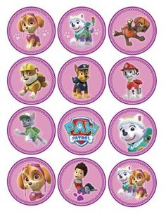 Instant Download Paw Patrol Cupcake Toppers by SweetieCakeDesigns