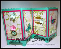 I've been wanting to make a Screen Divider card for sometime now. Well with another class on it's way, I figured I finally had a reason to make one. All products used to make this card are from Stampin'Up!