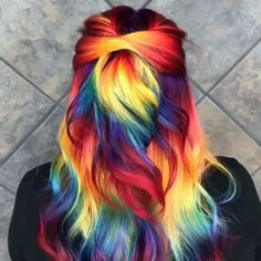 Hottest hair color ideas for all hair types 2019 crazy hair color - - Hot Hair Colors, Bright Hair Colors, Fall Hair Colors, Hair Color Purple, Cool Hair Color, Galaxy Hair Color, Colourful Hair, Ginger Brown Hair, Hair Rainbow