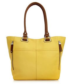 Tignanello - Pebble Leather Perfect Pockets Tote. AMAZING new spring colors! Check them out @ macys.com! Only $165.00 - great value for this big leather bag.