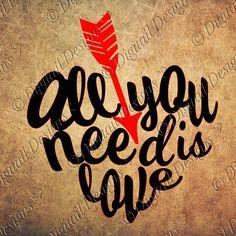 Download Valentines SVG File - Arrow Love SVG - Love SVG files for ...