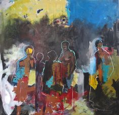 Buy FEMINIST PROTEST, a colourful figurative painting on canvas by professional artist Christine Crowley, size 130 x available at StateoftheART. South African Art, Crowley, Figure Painting, Online Art Gallery, Canvas, Artist, Tela, Artists, Canvases