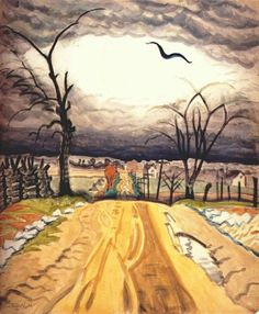 Charles Burchfield, The Mysterious Bird on ArtStack #charles-burchfield #art