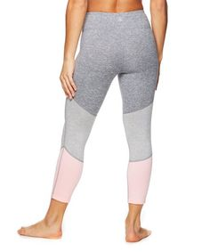 afa8a79c98 Gaiam | Coral Glow & Delaney Feeder Stripe Mid-Rise Capri Leggings - Women