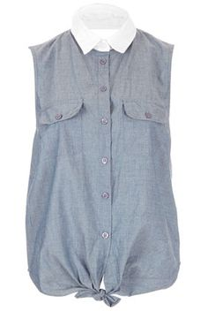 Cross Back Chambray Shirt