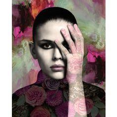 Black and white portrait goddess photomontage digital by VoogsArt