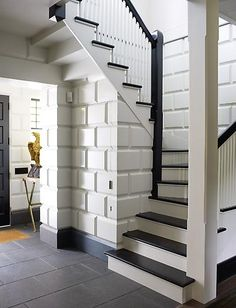 See hidden closet door under stairs - S.R. Gambrel portfolio - Country designs - Southampton NY