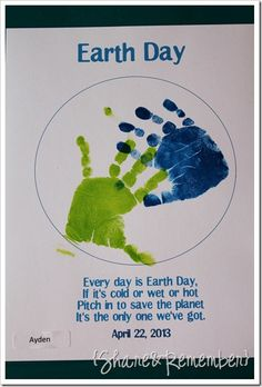 Love this for Earth Day!