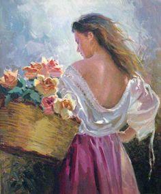 Francisco Sanchis Cortés - Mirando las Flores