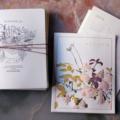 Perennial is a limited edition collaborative calendar between Brown Parcel Press and SAIPUA. The calendar is a collection of six letterpress prints containing carefully detailed illustrations and naturally inspired colors from our seasonal arrangements.