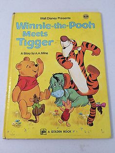 Winnie The Pooh Meets Tigger Golden Book Fiftteenth Printing 1977 Disney GUC