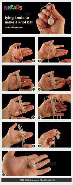 Summary: If you are interested in Chinese knots, this knot ball would be definitely a attraction to you. It is basically a finger weaving method. And your left thumb and little finger along with right hands play a significant role in tying knots below. Paracord Knots, Rope Knots, Macrame Knots, Paracord Bracelets, Tying Knots, Diy Bracelet, The Knot, Finger Weaving, Diy And Crafts