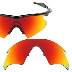 Revant Polarized Fire Red Replacement Lenses for Oakley M Frame Heater