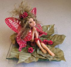 Fairy of strength hand crafted ooak miniature by FantasiaCreations, $48.00  This little Fairy has a new home in the United Kingdom..Sold