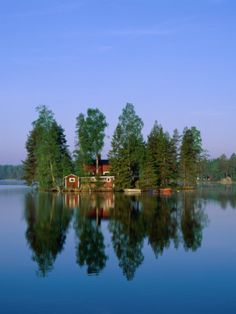 Now this is what I call a Vacation home on your own private island!!  Sormland, Sweden