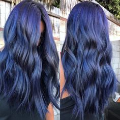 Uploaded by Hair & Hairstyles. Find images and videos about blue-purple hair color on We Heart It - the app to get lost in what you love. Blue Purple Hair, Violet Hair, Hair Color Blue, Hair Color And Cut, Indigo Hair Color, Matrix Hair Color, Pastel Blue Hair, Hair Colors, Colours