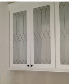 PROJECT 1 Faux Leaded Glass ~ How To Change Up Plain Cabinet Doors Or  Windows