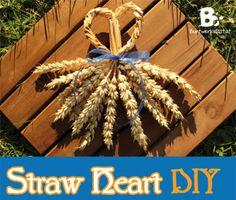 straw weaving heart DIY