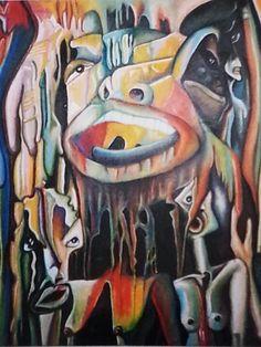 Pastel on canvas(Shame)
