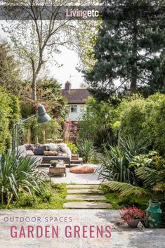 Have you created your outdoor room yet? With our long hot summer showing no sign of abating, this is the perfect week to get it started. Garden Nook, Terrace Garden, Garden Spaces, Outdoor Rooms, Outdoor Gardens, Outdoor Living, Common Garden Plants, Georgian Townhouse, Outside Living