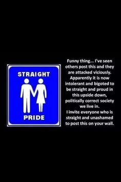 Yes I am 100% straight. And NO this does NOT mean that I hate gays. I dislike what they do. But I still love them as human beings because loved me even though I am a horrible sinner.