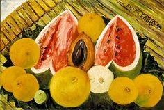 Frida Kahlo  Nature morte aux melons d'eau (1953)  Huile sur toile (40 x 60)
