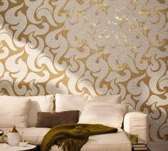 53142 Luxusní vliesová kovová tapeta na zeď La Veneziana, velikost 10,05 m x 53 cm
