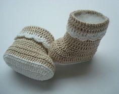botinha de crochê