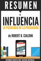 Influencia (Influence): Resumen del libro de Robert B. Cialdini -