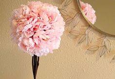 Tavaszi dekoráció selyem pünkösdi rózsából