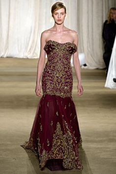 Definitely a possible shape for an Asian Bride-Marchesa | Fall 2013 Ready-to-Wear Collection | Style.com