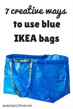 Some creative ways to use the iconic blue IKEA bag!