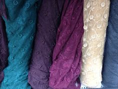 Embroidered stretch lace