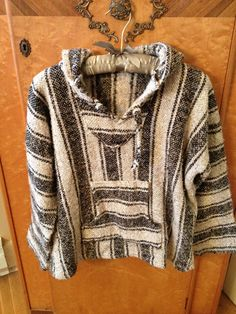 Vintage Baja Hoodie Drug Rug Pullover by SophiesChoiceVintage, $34.95