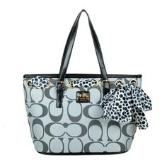 #CheapCoach Fashionable Patterns Coach Legacy Scarf Medium Grey Totes EAO Keeps Your Smile All The Time!