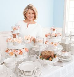 In need of a spring centerpiece? Stack cake stands of varying sizes and add flower-filled ramekins, then top it off with a cupcake dome for the perfect finishing touch.