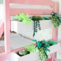 Felt succulents are cute too! Learn how to make these window boxes!