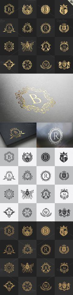 32 Luxury logo Calligraphic by Super Pig Shop on @creativemarket