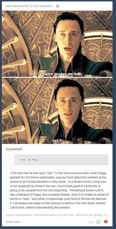 I believe Loki to be an antagonist, and most likely evil, but this brings in a new angle to his characterization.