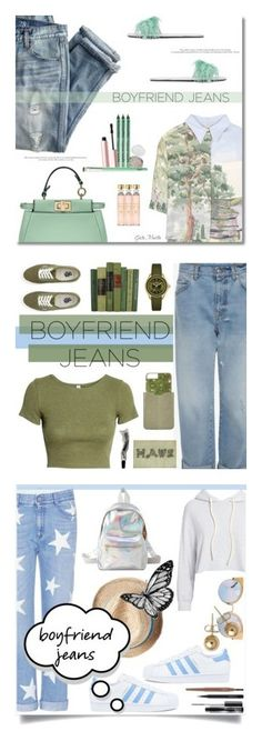 """""""Winners for Borrowed from the Boys: Boyfriend Jeans"""" by polyvore ❤ liked on Polyvore featuring J.Crew, STELLA McCARTNEY, Fendi, Prada, NYX, Too Faced Cosmetics, Acqua di Parma, boyfriendjeans, contestentry and H&M"""