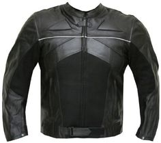 M-RAZER MENS MOTORCYCLE LEATHER JACKET ARMOR Black - Repin, Like & Share - Thanks #Jackets #Motorcycle #Leather