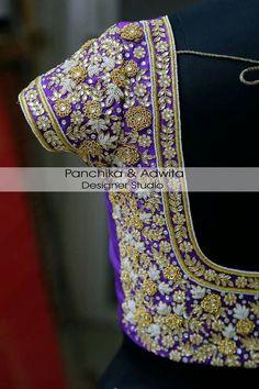 Choli Designs, Fancy Blouse Designs, Bridal Blouse Designs, Saree Blouse Designs, Sleeve Designs, Indian Bridal Lehenga, Indian Beauty Saree, Maggam Work Designs, White Ruffle Blouse