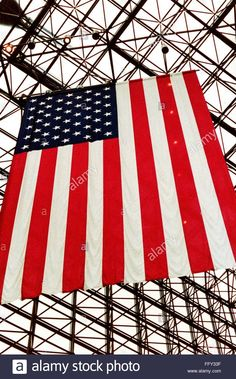 Download this stock image: Low Angle View Of American Flag Against Skylight - FFY33F from Alamy's library of millions of high resolution stock photos, illustrations and vectors.
